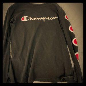 Black champion shirt